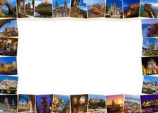 框架由葡萄牙图象做成我的照片 库存照片
