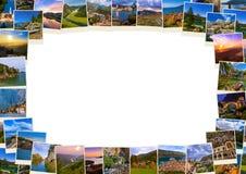 框架由黑山图象(我的照片)做成 库存照片
