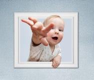 框架的婴孩 免版税库存图片