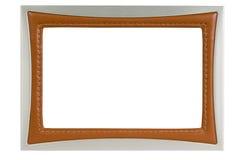 框架皮革金属照片 免版税库存图片