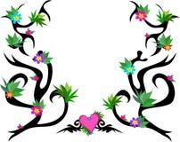 框架种植样式纹身花刺 库存图片
