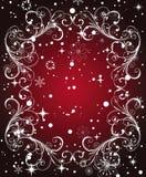 框架红色冬天 免版税库存照片