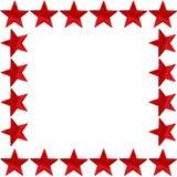 框架红色星形 图库摄影
