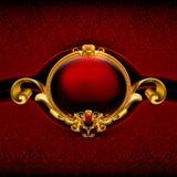 框架红色葡萄酒 免版税库存照片
