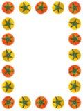 框架红色蕃茄黄色 库存照片