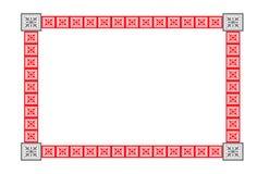 框架红色 向量例证