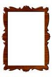 框架纵向长方形木头 免版税库存照片