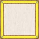 框架纸张跟踪的黄色 库存例证