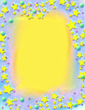 框架绘了流星 免版税库存照片