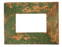 框架绿色老照片 免版税库存图片