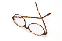 框架老塑料眼镜 图库摄影
