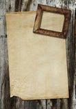 框架老纸照片葡萄酒 库存图片