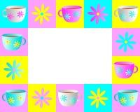 框架茶杯 免版税库存图片