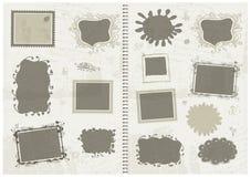 框架草图,您的设计的现有量图画 免版税库存照片