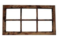 框架被风化的视窗 免版税库存图片
