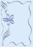框架装饰品紫罗兰 皇族释放例证