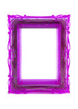 框架装饰品紫色 免版税库存图片