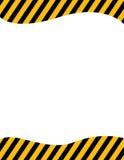 框架警告 免版税图库摄影