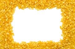 框架豌豆文本黄色 免版税库存图片