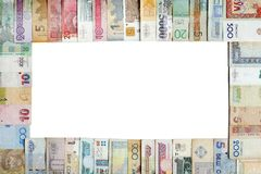 框架货币 免版税库存图片