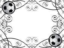 框架足球 免版税库存照片