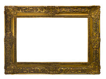 框架金子查出的图象白色 查出在白色 库存图片