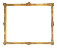 框架金子查出的图象白色 免版税库存图片