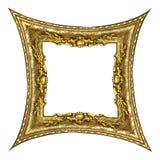 框架金子老长方形 图库摄影