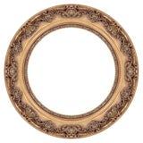 框架金子长圆形照片 免版税库存图片