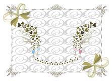 框架金子维多利亚女王时代的婚礼 图库摄影