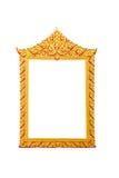 框架金子 库存图片