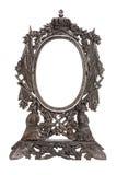 框架金属镜子被仿造的葡萄酒 库存照片
