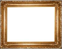 框架金照片葡萄酒 库存照片