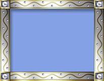 框架金银葡萄酒 库存图片