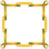 框架金黄丝带 免版税图库摄影