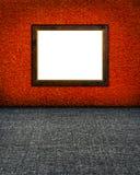 框架金黄俄国样式赤土陶器墙壁 库存图片