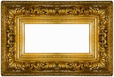 框架金黄厚实 库存图片