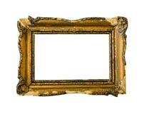 框架金黄照片葡萄酒 库存照片