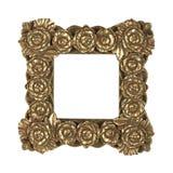 框架金黄玫瑰 库存照片