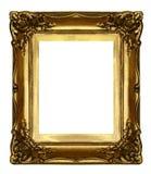 框架金黄老雕刻 库存图片