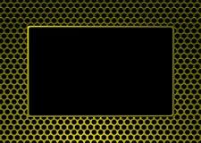 框架金黄金属照片 库存例证