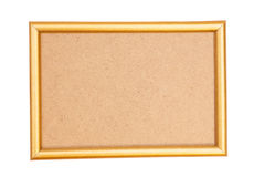 框架金黄查出的白色 图库摄影