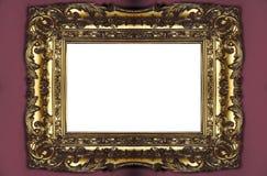 框架金黄照片 免版税库存图片