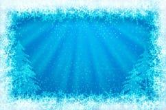 框架闪烁的冰发光 免版税库存照片