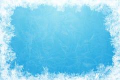 框架闪烁的冰 免版税库存图片