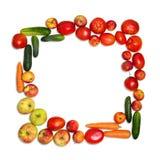 框架集合蔬菜 免版税库存图片