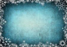 框架雪花空间文本 图库摄影