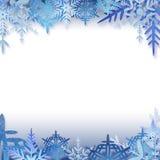框架雪花 图库摄影