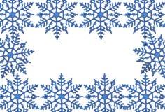 框架雪花 免版税库存照片