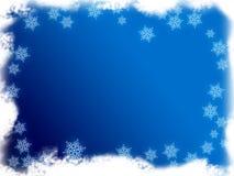 框架雪 免版税库存图片